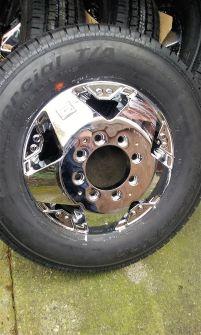 tires on wheels