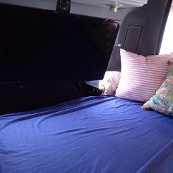 TV mounted under cupboard