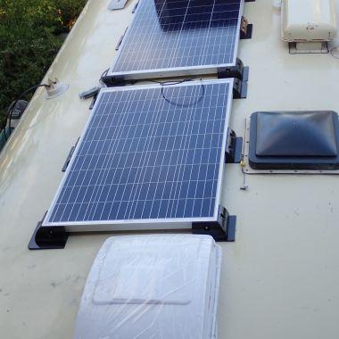 100 Watt Solar Panels and one of two Maxxfan roof vent fan