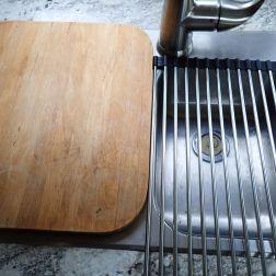cutting board and dish rack